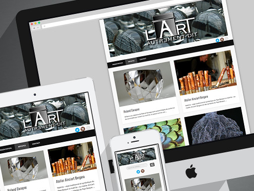 L'ART AUTREMENT DIT // logo web