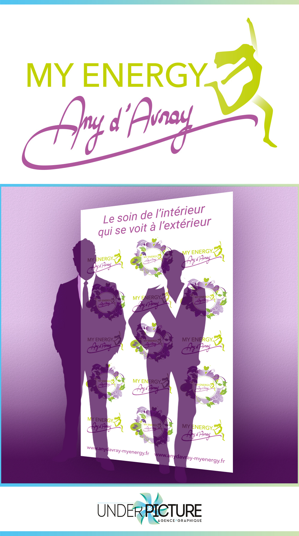 Logo et photocall pour My energy Any d'Avray