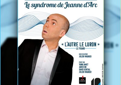 Affiche et flyers pour l'humoriste imitateur Yann Jamet