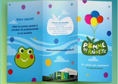 Brochure pour la crèche Pomme de Rainette