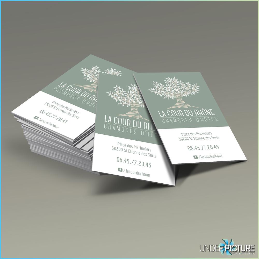 Carte De Visite Des Chambres Dhotes La Cour Du Rhone