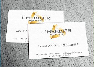 Carte de visite pour la société L'Herbier Production