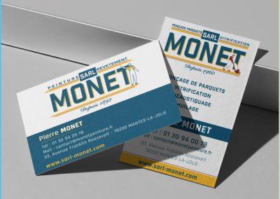 Carte de visite de l'entreprise MONET
