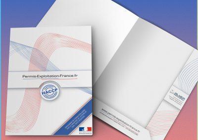 Pochette A4 à rabats pour Permis-Exploitation-France.fr