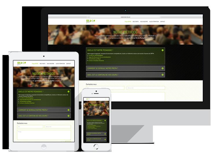 Site web IFAC Droit Montpellier