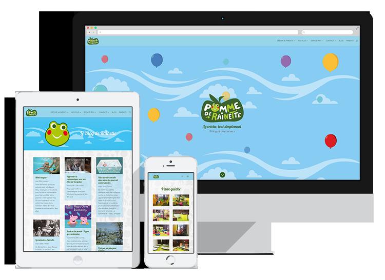 Site web de la crèche Pomme de Rainette