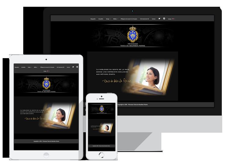 Site web de S.A.R. la Princesse Tania de Bourbon Parme