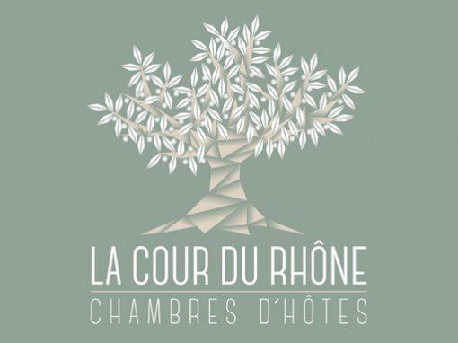 La Cour du Rhône // logo print