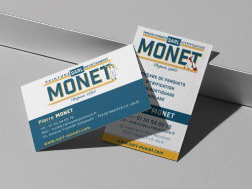 SARL MONET // logo print web